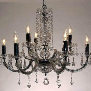 Luis XV 6+3 racimo cristal