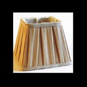 Pantalla plisada cuadrada lino