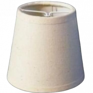 Pantalla pinza lisa beige 10 cm