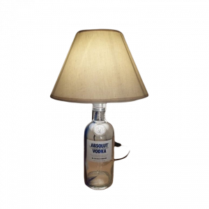 Sobremesa lámpara botella Vodka Absolut
