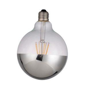 Globo LED Vintage Decó Espejo Plata