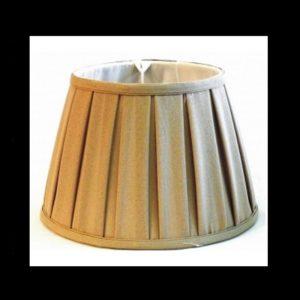 Pantalla plisada circular lino
