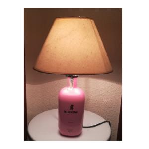 Sobremesa lámpara botella Sikkim rosa