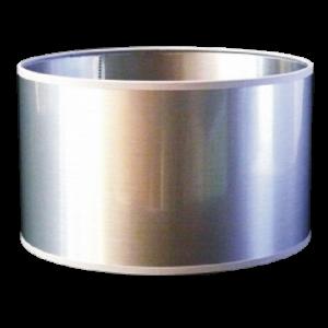 Pantalla cilindro plata