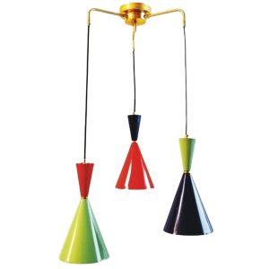 Colgante conos color 3 luces